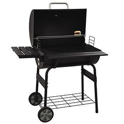 """Ribitek Multi-Function 30"""" Barrel BBQ Grill, Stainless Steel Barbecue Smoker, Barbecue Smokers Tool Kits, for Outdoor Picnic Patio Backyard Camping Cooking"""