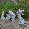 UIUY Large Dragon Gothic Garden Decor Statue - The Dragon of Falkenberg Castle Moat Lawn Garden Statue, Funny Outdoor Figurine, Yard Art, Resistant Statue for Garden, Garden Sculptures & Statues
