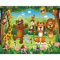 YTJBEI Photo Wallpaper Wall Mural -Cartoon Animals Non Woven Wall Mural Adults and Children Teen´s Room Office for Bedrooms 3D Mural Wall Decoration 300 X 210 cm