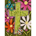 """YCSHS Religious Garden Flag Flower Cross, Home Decorative Christian Faith House Yard Flag, Floral Garden Yard Decorations, Butterfly Daisies Seasonal Outdoor Flag Easter 28""""x40"""""""