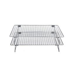 """Checkered Chef Stainless Steel Stackable Cooling Racks - 2 Pack Stacking Cooling/Baking Racks - Each Rack 10 x 15"""" - Tiered Cooling Rack for Cooking, Cooling and Baking - Oven and Dishwasher Safe"""