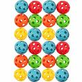 20 Hollow Plastic Balls Practice Golf Balls Perforated Baseball Sports Plastic Golf Balls Plastic Golf Balls for Practice Plastic Practice Golf Balls