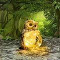 Dtong Solar Statue for Garden Decorations, Owl Solar Decorative Lights, Garden Decorations for Home Patio Yard Lawn Porch House Indoor Decorations