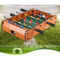 Hey~ Just Play! Foosball Table-Portable Mini Foosball/Football Game Set with Two Balls and Scorer for Adults and Children