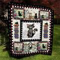 Cat Embroidery Pattern Quilt, Custom Your Quilt All Season Quilt, Cotton Quilt King Queen Twin Throw Size - Best Gifts for Mom Dad On, St Patricks Day