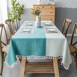 Gracie Oaks Aerielle Linen Tablecloth Linen in Green, Size 55.0 D in | Wayfair 7958CCB2F24A40A299C17A6315E82B5E