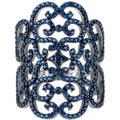 Countess Filigree Cocktail Ring Sapphire Silver - Metallic - Latelita London Rings