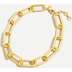 Long Link Gold Necklace - Metallic - J.Crew Necklaces