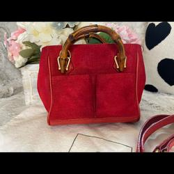 Gucci Bags | Mini Suede Gucci Two Way, Sling Bag. | Color: Red | Size: Mini Fit With Your Phone And Compact Wallet