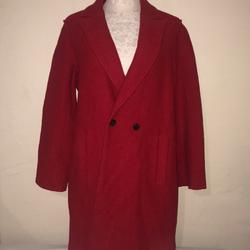 J. Crew Jackets & Coats | J Crew Red Italian Boiled Wool Coat | Color: Red | Size: 12