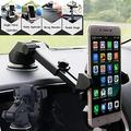 Universal Car Mobile Phone Holder Stand Rotating 360 Degree Long Arm Windshield Mount for GPS-Black