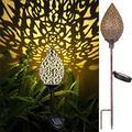 Solar Lamp Outdoor Hanging Garden Lamp Terrace Metal Lamp, Terrace Decoration Garden Art Porch, Garden, Lawn, Terrace, Garden Outdoor Decoration