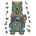 Unique Irregular Shape Jigsaw Puzzle, Animal Shape Puzzles, Jigsaw Puzzles Pressure Reliever Puzzle Games Wooden Animal Shaped Puzzle Pieces Set- 102 Pieces – 5.9111.02 in (150280mm) - Small