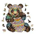 Unique Irregular Shape Jigsaw Puzzle, Animal Shape Puzzles, Jigsaw Puzzles Pressure Reliever Puzzle Games Wooden Animal Shaped Puzzle Pieces Set- 100 Pieces – 7.098.03 in (180204mm) - Small