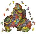 Unique Irregular Shape Jigsaw Puzzle, Animal Shape Puzzles, Jigsaw Puzzles Pressure Reliever Puzzle Games Wooden Animal Shaped Puzzle Pieces Set- 300 Pieces – 14.9615.87 in (380403mm) - Large