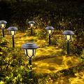 Solar Lights Outdoor Garden, Warm White LED Solar Garden Lights, Solar Pathway Lights Waterproof Solar Powered Garden Yard Lights Solar Landscape Lights for Lawn, Patio, Garden, Walkway(6 Pack)
