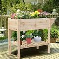 Raised Garden Bed Planter Box with Storage Shelf Garden Raised Garden Boxes Raised Garden beds for Vegetables Outdoor planters Planter Boxes Outdoor Raised Bed Raised Garden Bed Raised Garden