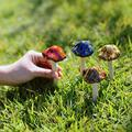 FENGLISUSU Mushroom Resin Sculpture Garden Decoration,Garden Mushroom Decor,Mushroom Pot Decoration,Resin Mushroom for Garden, Yard, Fairy Garden,4pcs