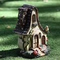 CFDZCP Garden Sculpture Outdoor Statues Fairy Tale Rustic House Resin Crafts Restaurant Garden Home Ornaments Jewelry