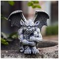 LEFUYAN Resin Statue Garden Collectible Figurine Statue Sculpture Figure Gargoyle Model Guardian Sculptures Figurine Medieval Gothic Indoor Outdoor Yard Garden Decor Statue