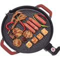 XJJ Smokeless Electric BBQ,Portable Barbecue Grill,Stainless Steel,for 3-4 Persons Family Garden Outdoor Cooking Picnics Camping breville toaster