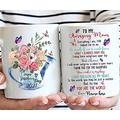 To My Amazing Mom Mug, To The World You May Be Just A Mother But To Me You Are The World, Mom Mug, Personalized Mug, Mother's Day Mug 15oz