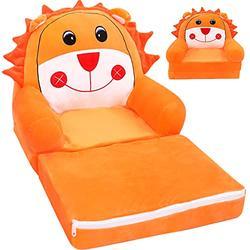 "Pearlead Plush Foldable Kids Sofa Backrest Chair Children's Flip Open Sofa Bed Kids Upholstered Chair Toddler Armchair Cartoon Toddler Recliner or Living Bedroom Playroom 2-Fold 31.5"""