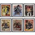 """Pulp Fiction Posters Retro Room Decor - 11x14"""" Set of 6 NOFRAME, Quentin Tarantino Movie Posters for Room Aesthetic 90s, Kill Bill Poster, Vintage Movie Posters, Pulp Fiction Merchandise, Pulp Fiction"""