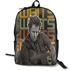 Casual Classic Backpack Tom Waits Shoulder Backpacks Waterproof Bags Laptop Backpack Travel Hiking Camping Daypack Backpack for Men/Women