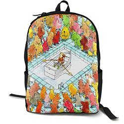 Casual Classic Backpack Dance Gavin Dance Happines Shoulder Backpacks Packable Bags Student Backpack Travel Hiking Camping Daypack Backpack for Men/Women
