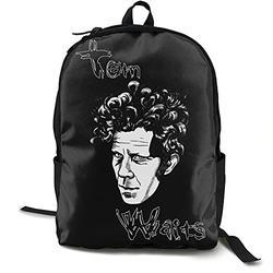 Casual Classic Backpack Tom Waits Shoulder Backpacks Waterproof Bags Bookbag Backpack Travel Hiking Camping Daypack Backpack for Men/Women