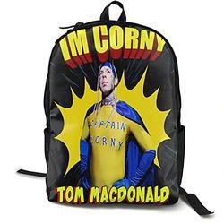 Casual Classic Backpack Tom Macdonald Shoulder Backpacks Lightweight Bags Student Backpack Travel Hiking Camping Daypack Backpack for Men/Women