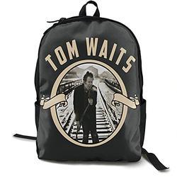 Casual Classic Backpack Tom Waits Shoulder Backpacks Lightweight Bags Laptop Backpack Travel Hiking Camping Daypack Backpack for Men/Women