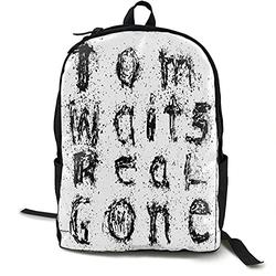 Casual Classic Backpack Tom Waits Shoulder Backpacks Lightweight Bags Student Backpack Travel Hiking Camping Daypack Backpack for Men/Women