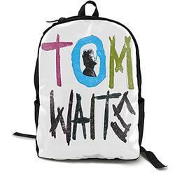 Casual Classic Backpack Tom Waits Shoulder Backpacks Waterproof Bags Student Backpack Travel Hiking Camping Daypack Backpack for Men/Women