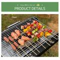 "INLE Charcoal Grill Collapsible And Portable Handle Design BBQ Grill For Outdoor BBQ, Size 26""H X 23""W X 17""D 