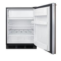 Summit Appliance 5.1 Cubic Feet cu. ft. Mini Fridge w/ Freezer Metal in Black/Brown, Size 32.38 H x 23.63 W x 25.75 D in | Wayfair CT663BKBIWP1ADA