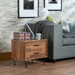 Brayden Studio® Nightstand w/ 2 Drawers - Bedside Furniture & Night Stand End Table Dresser For HomeWood in Black, Size 18.0 H x 20.0 W x 16.0 D in