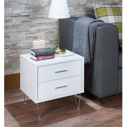Brayden Studio® Nightstand w/ 2 Drawers - Bedside Furniture & Night Stand End Table Dresser For HomeWood in Gray/White   Wayfair