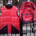 Adidas Jackets & Coats   Adidas Vest & The North Face Backpack   Color: Red   Size: S