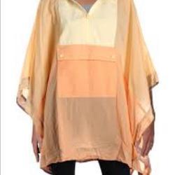 Free People Jackets & Coats | Free People Womens Hooded Poncho Jacket | Color: Cream/Orange/Yellow | Size: Os