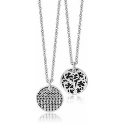 Sterling Silver Box Weave Scroll Medallion Pendant Necklace At Nordstrom Rack - Metallic - Lois Hill Necklaces