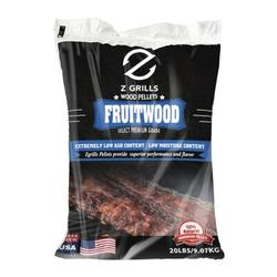 Z GRILLS 20 LB BBQ Pellets 100% Hardwood Natural Wood Smoker Grill Fruitwood, Size 2.0 H x 24.0 W x 15.0 D in | Wayfair WP-FRUITWOOD-20