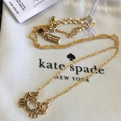 Kate Spade Jewelry | $58 New Kate Spade Celestial Unique Charm Necklace | Color: Gold | Size: Necklace: 16+ 2.5 Extender