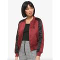 Disney Jackets & Coats   Disney Mulan Phoenix Satin Bomber Jacket Nwt   Color: Black/Red   Size: Various
