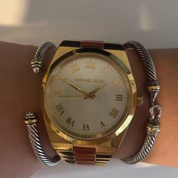 Michael Kors Accessories   Michael Kors Gold Watch With Orange Accents   Color: Gold/Orange   Size: Os