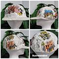 Disney Accessories | Disneyland Characters Graffiti Hat | Color: White | Size: Os
