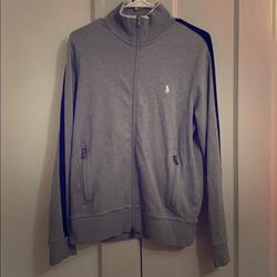 Polo By Ralph Lauren Jackets & Coats | Polo Ralph Lauren Performance Track Jacket Gray | Color: Blue/Gray | Size: M
