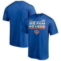 """""""Men's Fanatics Branded Blue New York Knicks 2021 NBA Playoffs Bound Dunk T-Shirt"""""""