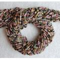 FionaGemstoneBeads~ 2 Strands~2mm~ Multi Tourmaline Faceted rondelle Stone Beads-~- 13 inches Long~ semi Precious Gemstone Beads for Jewelry Making ~ Wholesale Price~AAA Quality